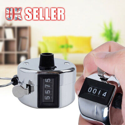 Tally Counter 4 Digit Number Clicker Manual Sale High Quality Hand Held