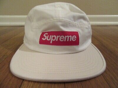 be9fea09 Supreme 2-Tone Camp Cap Hat White Strapback SS19H104 SS19 Brand New DS 2019
