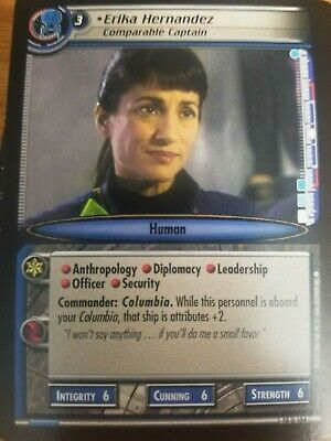 Star Trek CCG Captain/'s Log 10U62 Baxter Wandering Security Officer NrMint-Mint
