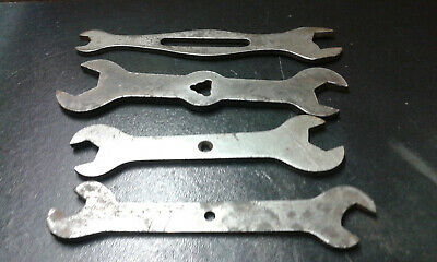 Vintage Antique Wrench Assorted Lot Of 4 Combination Open End Wrench