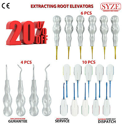 Dental Elevators Sharpening Luxators 3 Sets Kit Tooth Extraction Extracting Tool