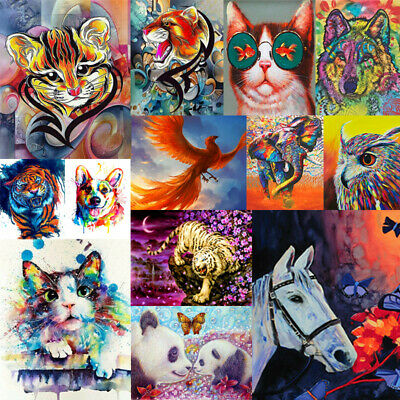 Cute Colorful Animals DIY Paint By Number Kit Oil Painting Art Wall Home Decor