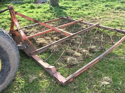 Chain harrows in a frame for compact tractor, fields, horse fields 17ft  8ft