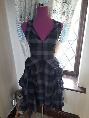 Stunning All Saints Hector Dress Black / Grey Size 8 Excellent Condition