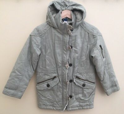Girls Adams Padded Coat With Hood Age 9 <D680