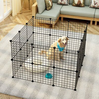 Small Pet Pen Bunny Cage Dog Playpen Indoor Animal Fence Puppy Guinea Pig Rabbit
