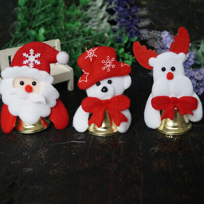 Christmas Tree Decor Santa Claus Snowman Doll Bell Xmas Garden Pendant Ornaments