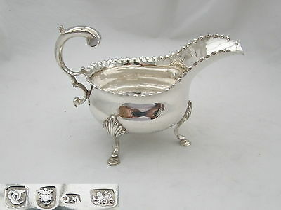 Rare George Iii Hm Sterling Silver Sauce Boat 1774