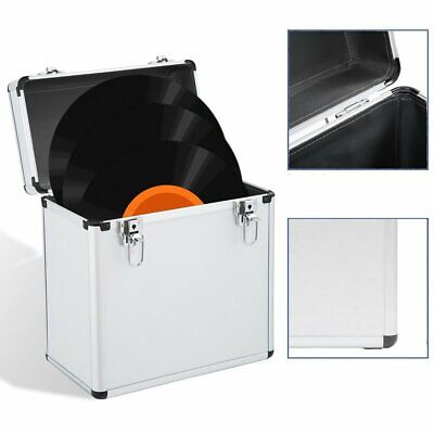 """Set of 50 12"""" Vinyl Record Carry Storage Case Stackable DJ Collection Box"""