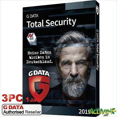 G DATA Total Protection 2019 3PC 1Jahr VOLLVERSION / Upgrade Total Security 2018