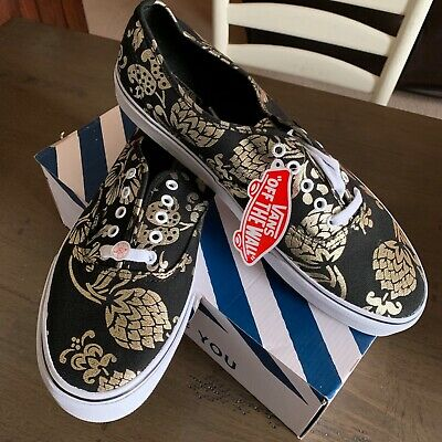 1930431b682c58 Vans 50th ANNIVERSARY Authentic Mens (NEW) Black Gold 50 YEARS Size 13