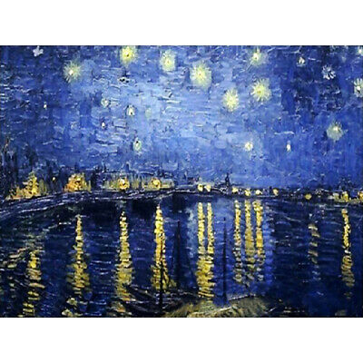 Starry Sky River Canvas Paint By Numbers Kit Oil Painting Kit Easy Paint