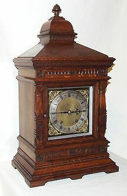 Antique Oak TING TANG Bracket Mantel Clock  Winterhalder & Hoffmeier W & H (a11)
