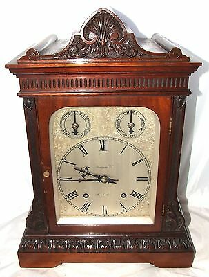 Winterhalder W & H Antique Mahogany TING TANG Bracket Mantel Clock CLEAN SERVICE
