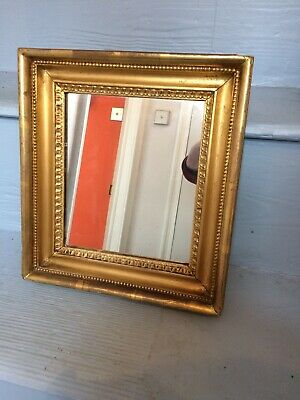 Beautiful Small Antique 19th Century Gilt Framed Mirror