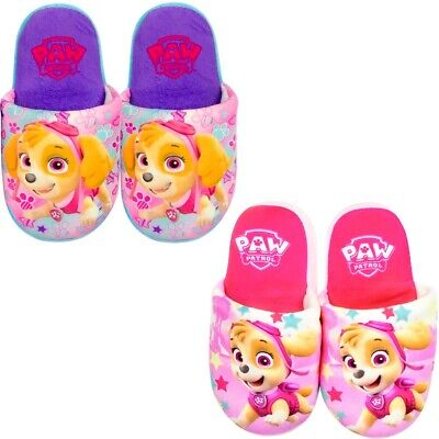 Official Paw Patrol Girls Slippers Warm Comfy Children's Size 6-13 UK  25-32 EU