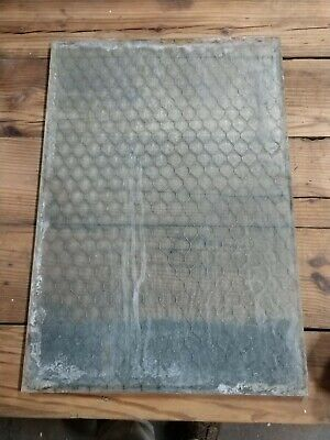 Reclaimed Vintage Industrial Antique Chicken Wire Glass Panes. As found.
