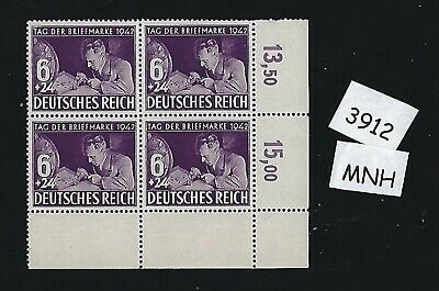 MNH Stamp block / 1942 Stamp day / Stamp collector / Third Reich / Nazi Germany