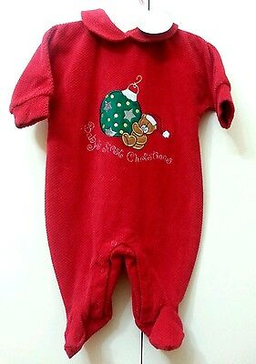 New NWT Koala Kids Unisex Christmas Outfit Red Size 0-3 months baby infant