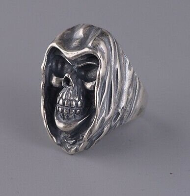 925 STERLING SILVER  MEN'S   Skull PUNK Ring Jewelry S3070