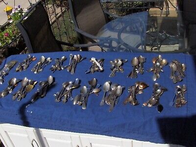 LARGE Lot of 190 Souvenir Spoons, Many Locations