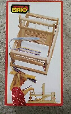 Vintage Brio 31380 Collapsible Portable Tabletop Weaving Loom - Complete IOB