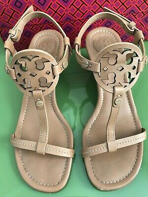 1ed80d34c TORY BURCH Size 5 Womens Miller Wedge 60mm Sandals Dusty Cypress Nappa  Leather