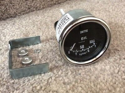 NEW SMITHS CLASSIC Cooper OIL PRESSURE GAUGE 0-100 Psi  52 mm