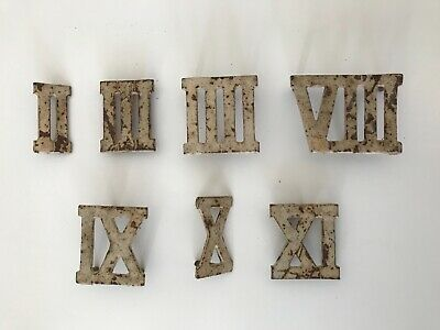 Vintage Clock Golf Roman numerals. cast iron retro Vintage antique. House number