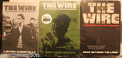 The Wire - The Complete First Second Fifth Season 1 2 5 DVD + NEW SEALED