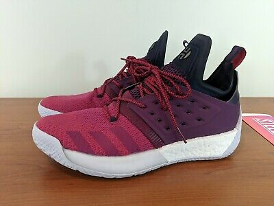 7773573f524 Adidas James Harden Vol 2 Boost Mens Basketball Sneakers Red Grey AH2124  Size 11