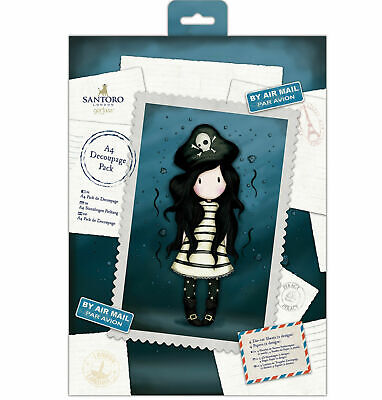 Santoro Gorjuss ~ 10 sheets 10.5 x 17.3 cm ~ Mini Decoupage Pad