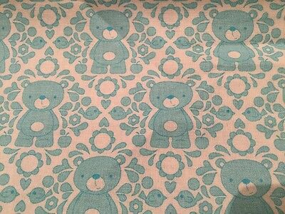 Fat Quarter All Our Yesterday/'s Teddies Cotton Quilting Fabric  50cm x 55cm