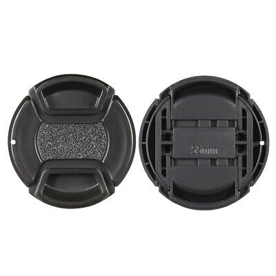 55mm Center Pinch Snap-on Lens Cap Cover Keeper Holder for Canon Nikon  K8O6