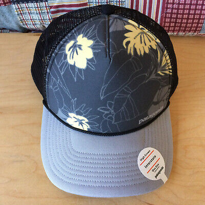 ce4fe1112a0 Patagonia High Crown Interstate Classic Trucker Hat Wave Worn Drifter Grey  New