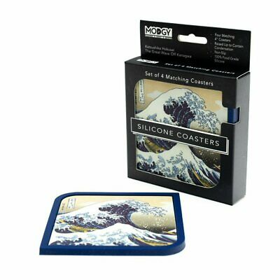 Modgy The Great Wave Off Kanahwa Silicone Cocktail / Drink Coasters - Set of 4