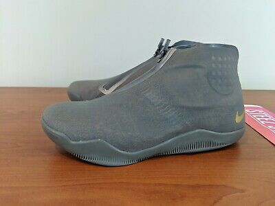c0417f6e2e1 Nike Kobe 11 XI ALT Tumbled Basketball Shoes Grey Metallic Gold 880463-079  SZ 8