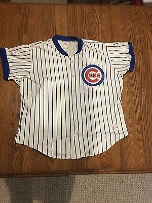 912f234cf8f Vintage Chicago Cubs with Blue Pinstripe Jersey By Rawlings Size Adult XL