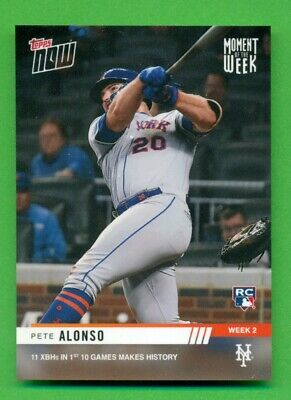 2019 Topps Now Base Card #MOW-2 Pete Alonso Makes History-New York Mets