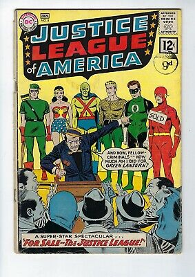 JUSTICE LEAGUE of AMERICA # 8 (Dec/Jan 1962 - First 12c issue!)