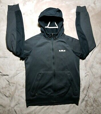 ab8164b4d6a8 NIKE THERMA FIT Lebron James Gray Black Long Sleeve Jacket Mens Size ...