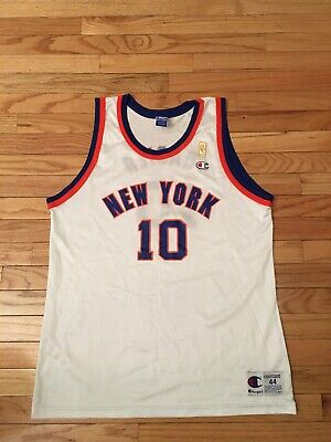 64d90d45 Walt Frazier New York Knicks NBA Vintage Champion Gold 50th Anniversary  Jersey