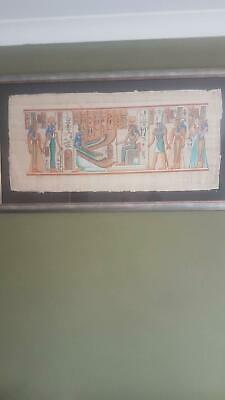 Egypian picture on papyrus paper