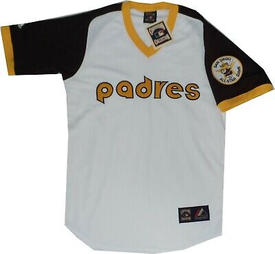 a7b1e864c New San Diego Padres Throwback Jersey Cooperstown Majestic A6240  150 Medium