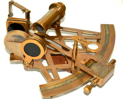 "Antique vintage brass nautical sextant 8"" collectible ship's instrument replica"