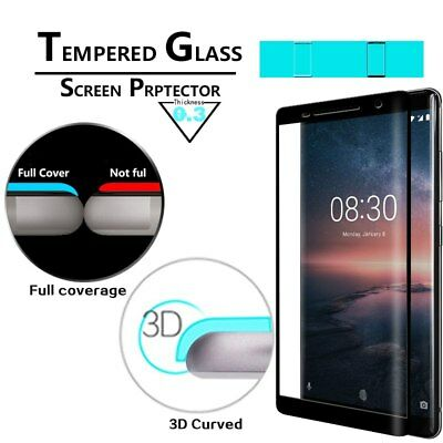 3D 5D Full Curved Tempered Glass Screen Protector For Nokia 3 5 6 7 8 Plus