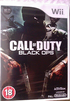 "Jeu Nintendo Wii ""Call Of Duty"" (Black Ops) Fps Neuf Sous Blister"