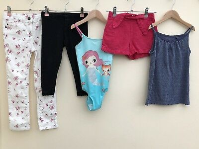 Girls Bundle Of Clothing Age 6-7 Zara H&M Next <D1934