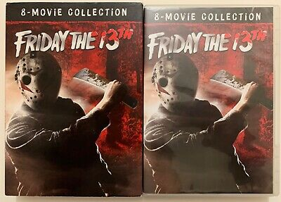 Friday The 13Th 8 Movie Collection Dvd 8 Disc Set + Slipcover Sleeve Free Shipin