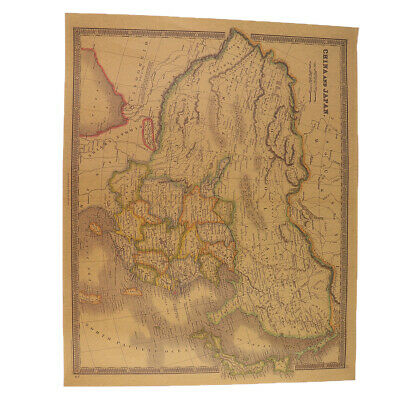 Old World Map Vintage Antique Style Retro Color Paper Poster Wall Chart